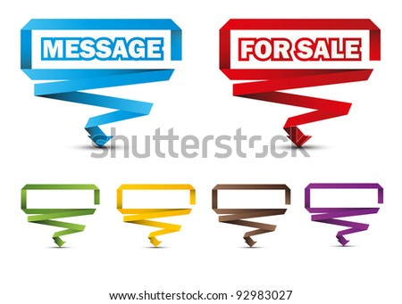 Colorful pointers, labels, stickers, esp 10 - stock vector