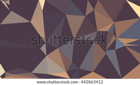 Colorful polygon background. Abstract Triangle Geometrical Background. Vector triangle mosaic background. Geometric design for business presentations.