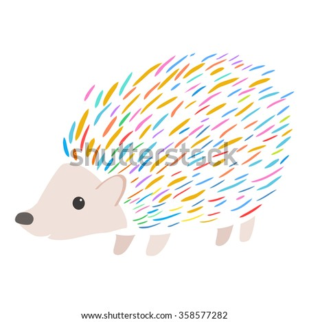 colorful porcupine - stock vector