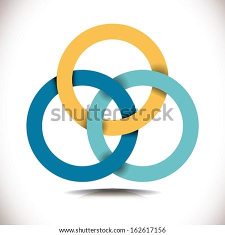 Colorful precious cooperatives icons set - stock vector