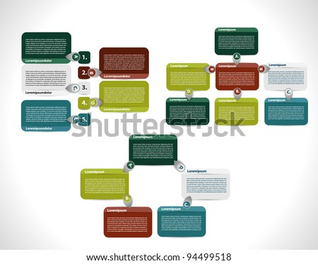 Colorful presentations and reports. - stock vector