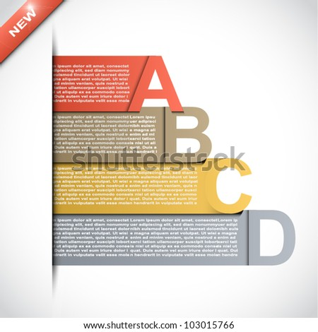 Colorful presentations with four text box - stock vector