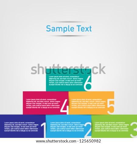 colorful pyramid description - stock vector