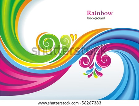 Colorful rainbow background. - stock vector