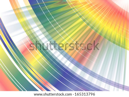 Colorful rainbow spinning movement Abstract Background texture pattern with spark flash, create by vector - stock vector