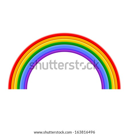 Colorful Rainbow Vector Illustration