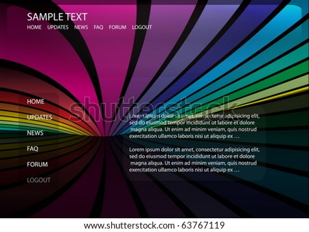 Vector Colorful Web Template Web Layout Stock Vector