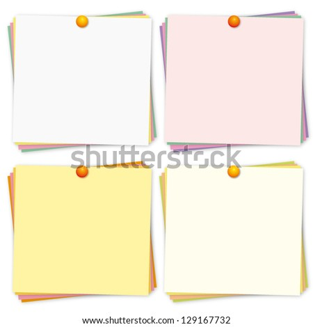 Colorful reminders. Vector collection. - stock vector