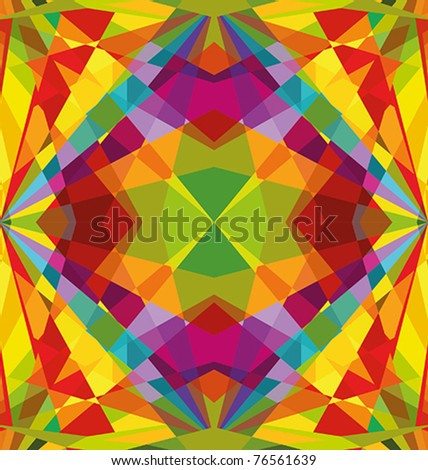 Colorful repeating abstract - background - stock vector