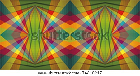 Colorful repeating background with happy stars - stock vector
