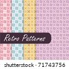 Colorful Retro Patterns - stock vector