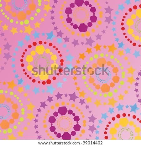Colorful retro vector background - stock vector