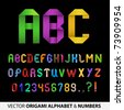 Colorful Ribbon Alphabet With Numbers - stock photo