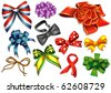 Colorful ribbons and bow ties - stock vector