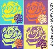 colorful rose background - stock vector