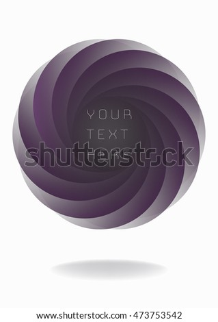Colorful round abstract banner shape