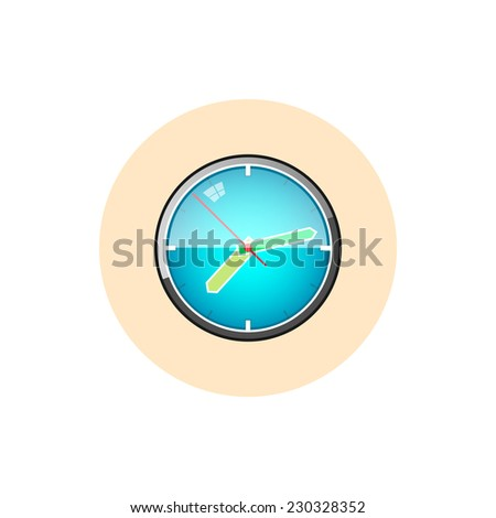 watch wall clock isolated on white stock illustration