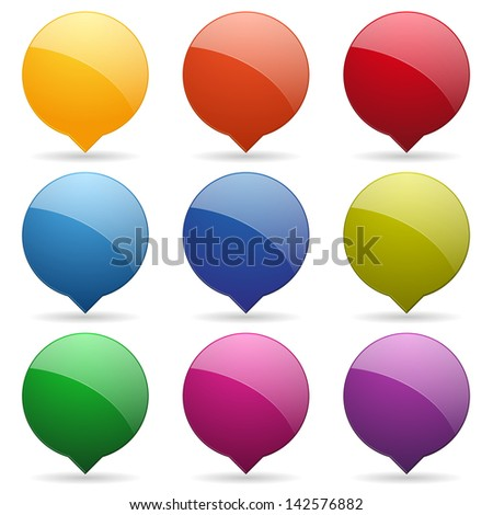 Colorful round speech bubbles