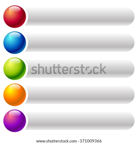 Colorful, rounded banner, button backgrounds with blank space for your text - stock vector