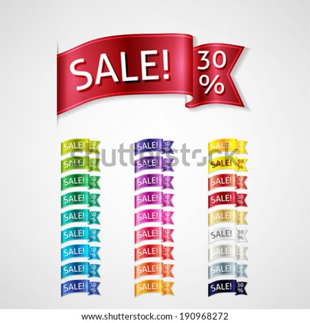 colorful sale banners set