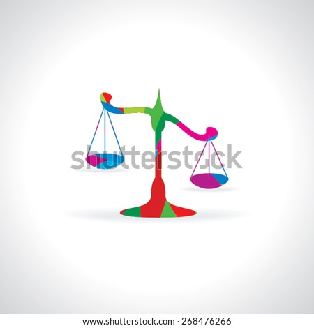 colorful scale for justice vector illustration  - stock vector