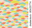 colorful seamless abstract hand-drawn pattern, waves background - stock photo