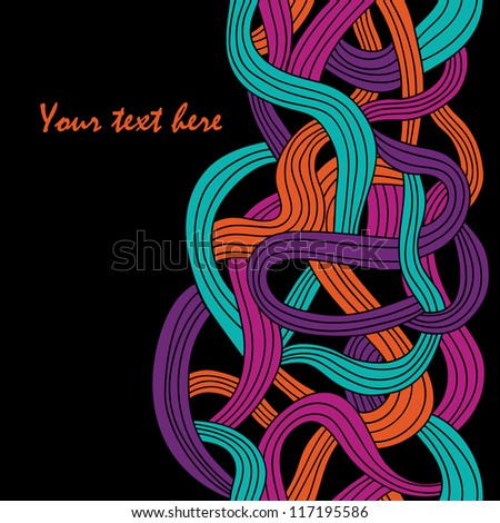 colorful seamless abstract hand-drawn vector pattern