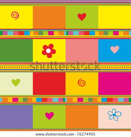 Colorful seamless background. vector background - stock vector