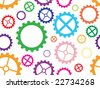 Colorful seamless cogwheel pattern background - stock vector