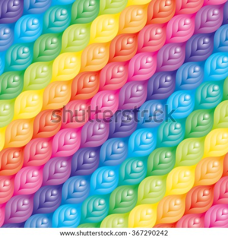 Colorful seamless pattern. Diagonal tileable vector background. - stock vector