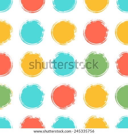 colorful seamless pattern with ink circles