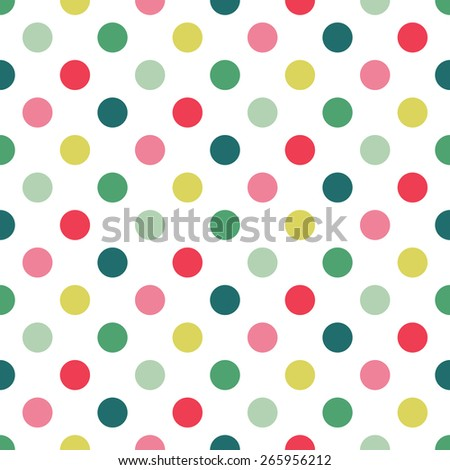 colorful seamless Polka dot pattern background - stock vector