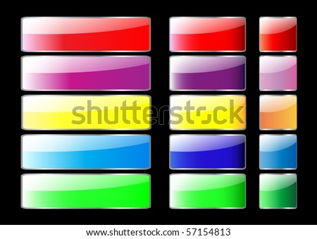 Colorful set of blank web buttons. Vector eps10.