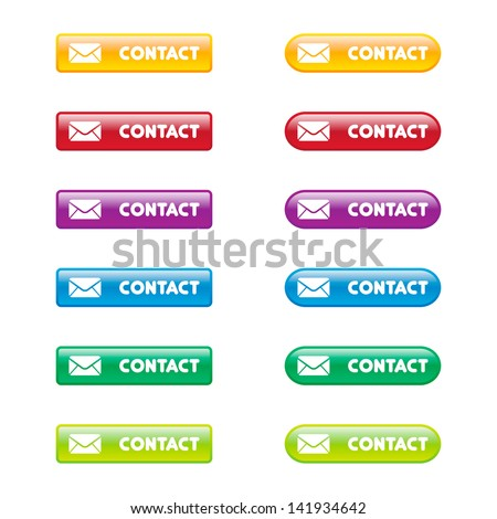 Colorful Set of Contact Buttons - stock vector