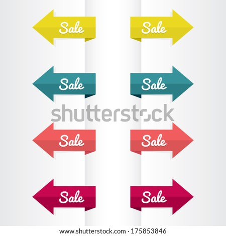 Colorful Set of Sale Arrows - stock vector