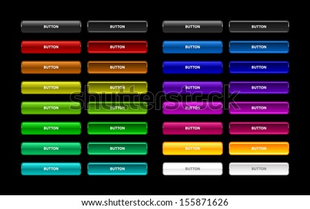 Colorful set of web buttons - stock vector