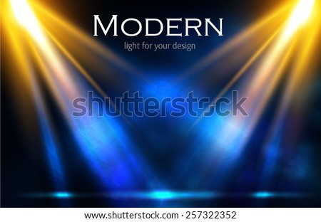 Colorful shining spotlight vector background. - stock vector