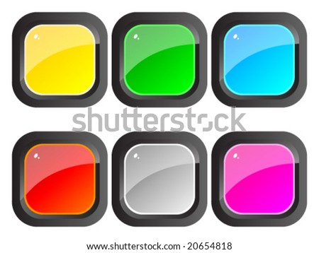 Colorful shiny web buttons