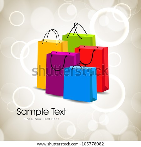 Colorful shopping bags. EPS 10. - stock vector
