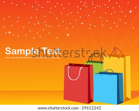 colorful shopping bags, vector illustration