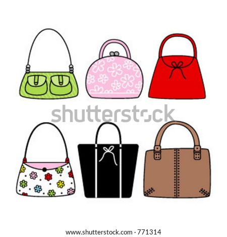 colorful shopping purses