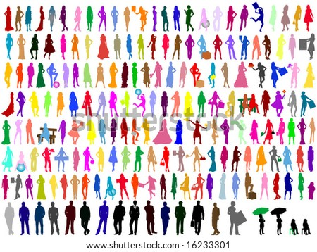 Colorful silhouettes