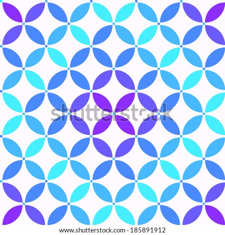 colorful simple geometric seamless pattern - stock vector