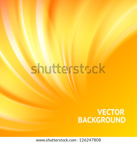 Colorful smooth light lines background. Vector illustration, eps 10, contains transparencies.