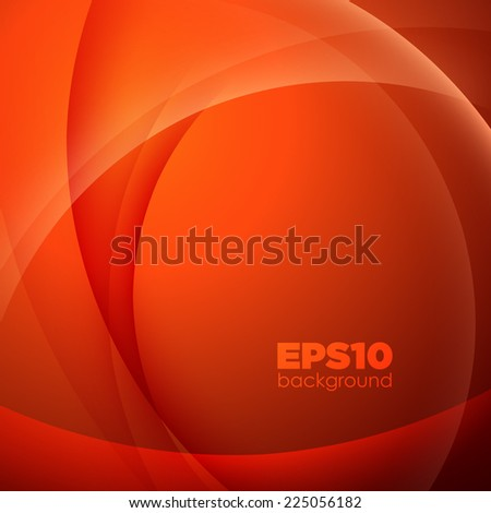 Colorful smooth twist light lines background. Vector illustration. - stock vector