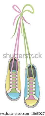 Colorful sneakers - stock vector