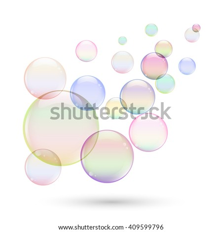 Colorful soap bubbles for your design. - stock vector