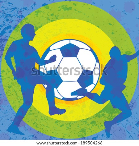 Colorful soccer background  - stock vector