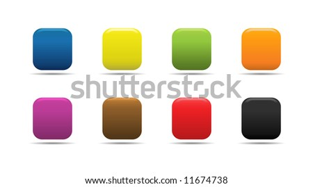 Colorful soft looking web buttons. - stock vector