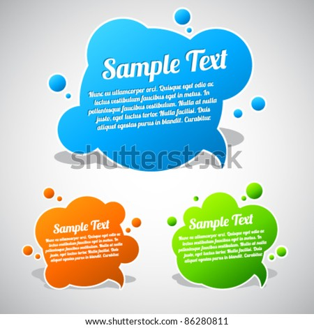Colorful speech bubble template collection - stock vector